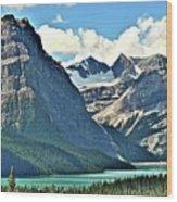 Mountain Glacier And Lake  Wood Print