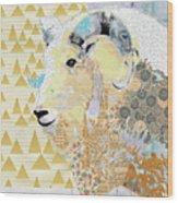 Mountain Goat Collage Wood Print