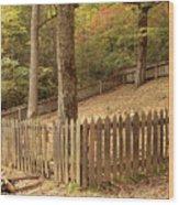 Mountain Graveyard Wood Print