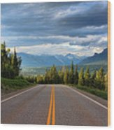Mountain Highway Wood Print