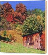 Mountain Home Place Back Yard  Wood Print