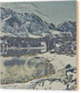 Mountain Lake, California Wood Print