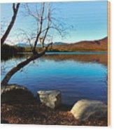 Mountain Lake Chocorua Wood Print