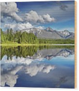 Mountain Lake With Reflection Wood Print