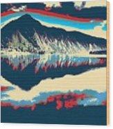 Mountain  Landscape Poster Wood Print