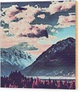 Mountain  Landscape Vista Wood Print