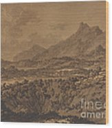 Mountain Landscape With A Hollow Wood Print
