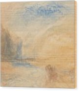 Mountain Landscape With Lake Wood Print