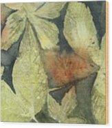 Mountain Leaves Wood Print