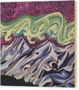 Mountain Lights Wood Print