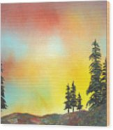 Mountain Morning In The High Sierra Wood Print