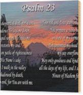 Mountain Morning Prayer Wood Print