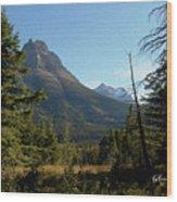 Mountain Opening Wood Print