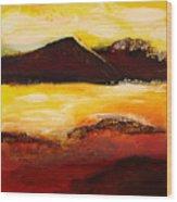 Mountain Pass 1 Wood Print
