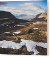 Mountain Pass In Iceland Wood Print