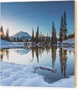 Mountain Peace  Wood Print