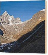 Mountain Peak, Kumuche Himal Wood Print