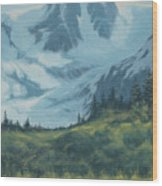 Mountain Peak Wood Print
