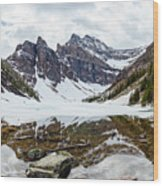 Mountain Picture Lake Agnes Wood Print