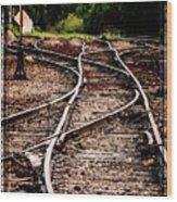 Mountain Railroad Maze Wood Print