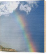 Mountain Rainbow Wood Print