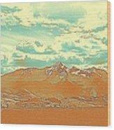 Mountain Range 2 Wood Print