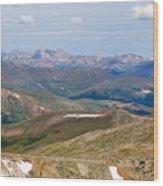 Mountain Range From Mount Evans Summit Wood Print