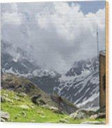 Mountain Refuge Of Mount Viso Wood Print
