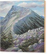 Mountain Ridge Wood Print