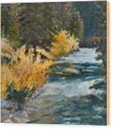 Mountain River Wood Print by Rita Bentley
