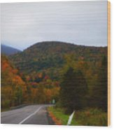 Mountain Road, Killington Vermont Wood Print