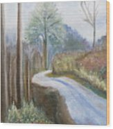 Mountain Road Wood Print