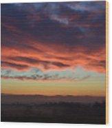 Mountain Road Sunrise 1 Wood Print