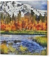 Mountain Wood Print by Russ Harris