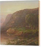 Mountain Scene On The Ohio River Wood Print