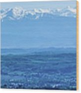 Mountain Scenery 16 Wood Print