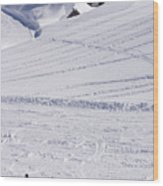 Mountain Skiing Wood Print