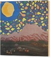 Mountain Sky Wood Print