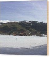 Mountain Snow World Long Wood Print