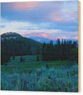 Mountain Sunrise Wood Print