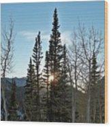 Mountain Sunset Wood Print by Michael Cuozzo