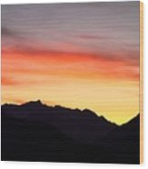 Mountain Sunset Wood Print