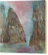 Mountain Temple Wood Print