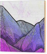 Mountain Texture Wood Print