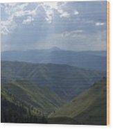 Mountain Top 1 Wood Print