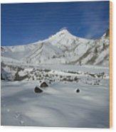 Mountain Tracks Wood Print