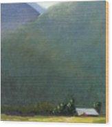 Mountain Valley Farm Wood Print