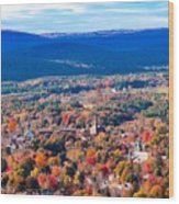 Mountain View Of Easthampton, Ma Wood Print