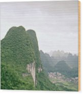China Mountain View Wood Print