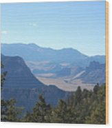 Mountain View On The Chief Joseph Highway Wood Print